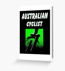 AUSTRALIAN CYCLIST : Modern Abstract Bicycle Print Greeting Card