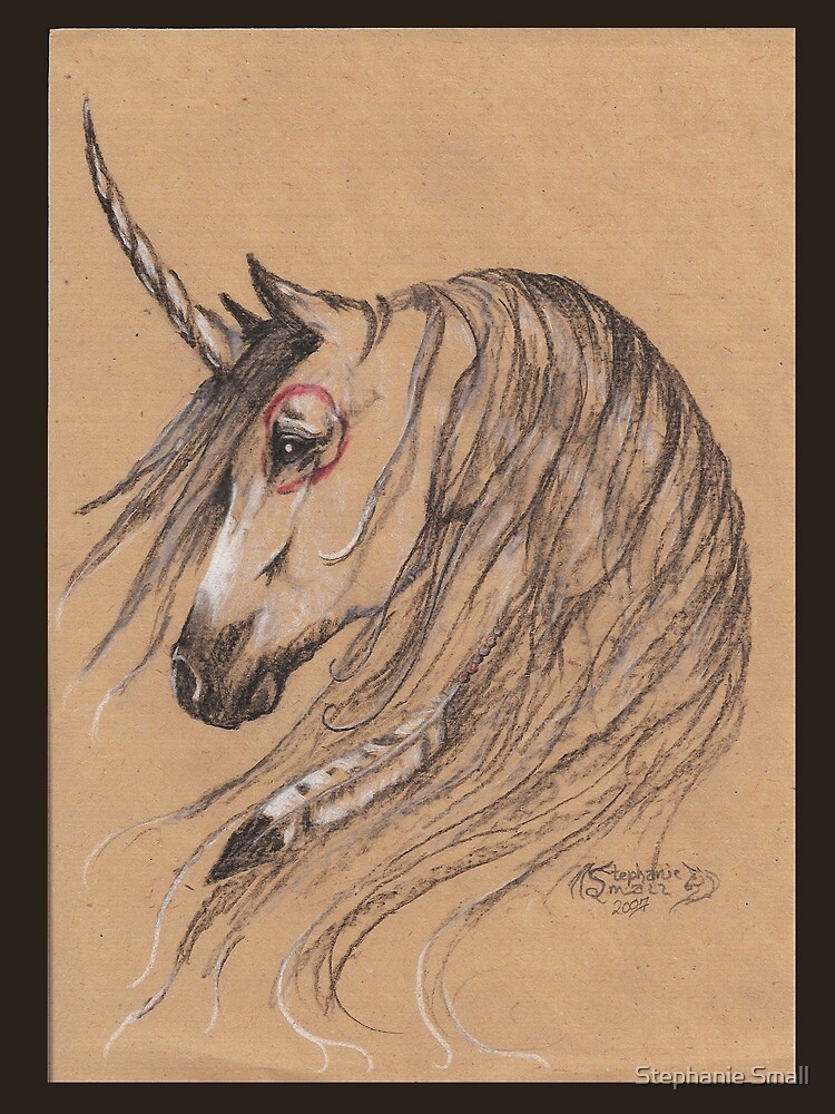 Native Unicorn With Feathers by Stephanie Small