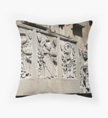 Florence Series #3 Bargello Heraldics Throw Pillow