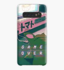 90S ANIME CAT GAME OVER VAPERWAVE GRUNGE PIXEL KAWAII Case/Skin for Samsung Galaxy