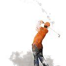 Golfspieler 1 von Marlene Watson