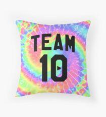 tie dye team 10- jake paul Throw Pillow