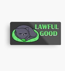 Lawful Good D&D Cat Metal Print