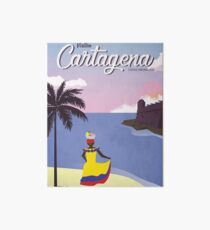 Cartagena Vintage Travel Poster Art Board