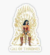 Gal of Thrones Sticker