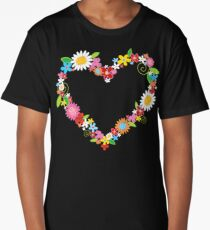 Whimsical Spring Flowers Power Garden Long T-Shirt