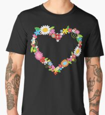 Whimsical Spring Flowers Power Garden Men's Premium T-Shirt