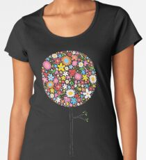 Whimsical Colorful Spring Flowers Pop Tree Women's Premium T-Shirt