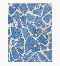 Cubian Blue Tiles Photographic Print