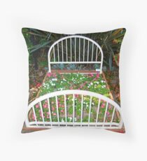 FlowerBed Throw Pillow