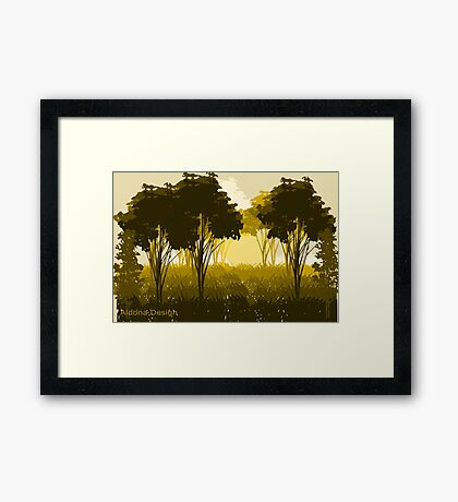 A scenery (3376 Views) Framed Print
