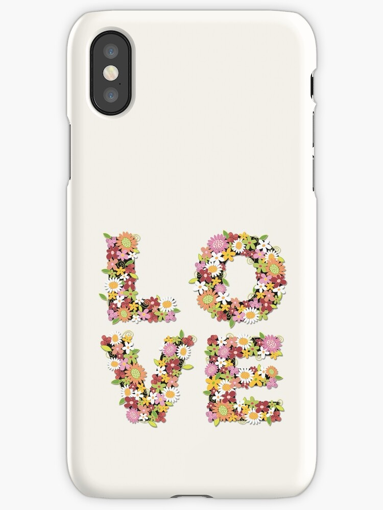 LOVE Spring Flowers in Pink by fatfatin
