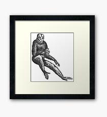 Ape Boye (is Dismayed at Portrait Day) Framed Print