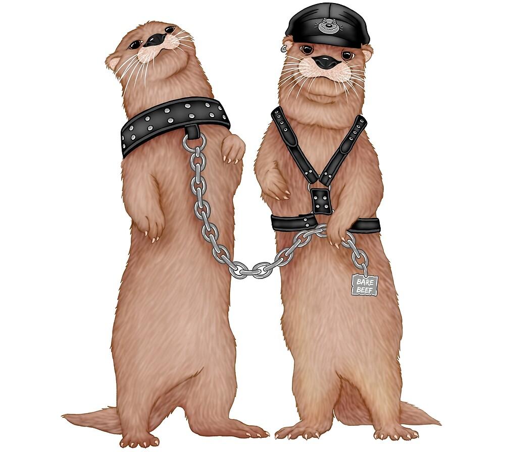Kinky Otters by barebeef