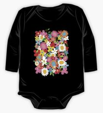 Whimsical Spring Flowers Power Garden II One Piece - Long Sleeve