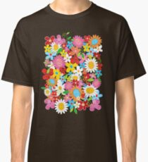 Whimsical Spring Flowers Power Garden II Classic T-Shirt