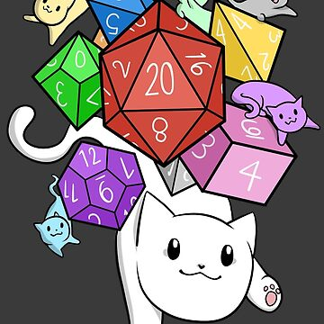 Dice! D&D Cat by Shippery