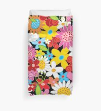 Whimsical Spring Flowers Power Garden II Duvet Cover
