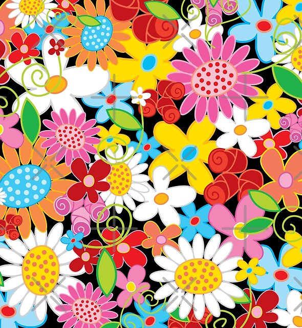 Whimsical Spring Flowers Power Garden II by fatfatin