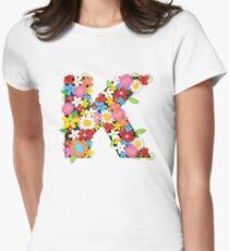 Spring Flowers Alphabet K Monogram T-Shirt