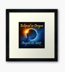 Eclipsed in Oregon, the Solar Eclipse 2017  Framed Print