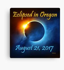 Eclipsed in Oregon, the Solar Eclipse 2017  Canvas Print
