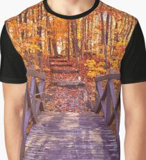 Bridge to Fall Fantasy Graphic T-Shirt