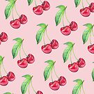 Cherry Pattern Pink by Meaghan Roberts