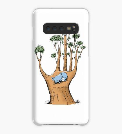 Tree Hand with Cute Sleepy Koala Case/Skin for Samsung Galaxy