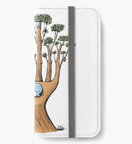 Tree Hand with Cute Sleepy Koala iPhone Wallet