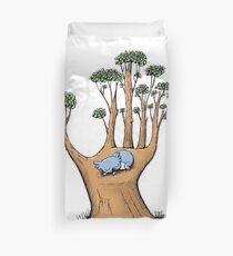 Tree Hand with Cute Sleepy Koala Duvet Cover
