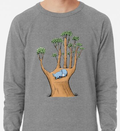 Tree Hand with Cute Sleepy Koala Lightweight Sweatshirt