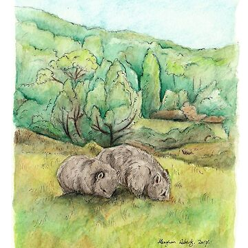 Wombats at Cradle Mountain by MeaghanR