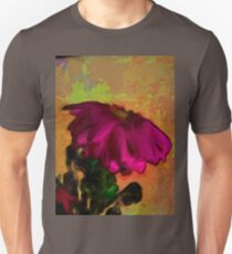 Purple and Pink Flower with some Orange T-Shirt