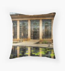 By the lily pond Throw Pillow
