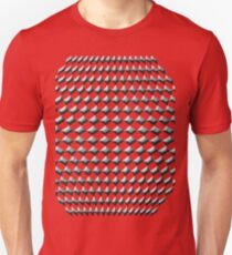 3D - 3D diamond - diamond - Black and White T-Shirt