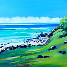 Burleigh Heads Headland  by Virginia McGowan