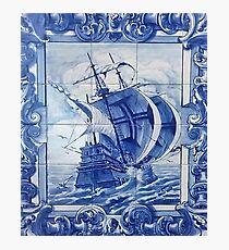 Portuguese azulejo blue tile Photographic Print