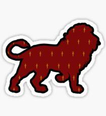 Lion Sword Print Sticker