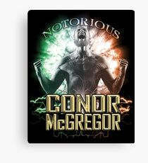 Notorious Conor McGregor energy explosion and rage Canvas Print