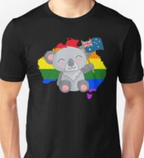 LGBT Rainbow Australia Koala Pride T-Shirt
