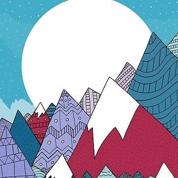 Berge des blauen Himmels von steveswade