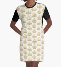 Keep Calm I am The Wedding Planner | Gold On Ivory Background Graphic T-Shirt Dress
