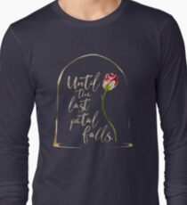 Until the last petal falls. Beauty and the Beast. T-Shirt