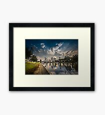Day and Nigh Time - Melbourne Framed Print