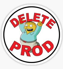 DELETE PROD Sticker