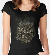 Boho Ethnic Spiral Dreams Women's Fitted Scoop T-Shirt
