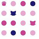 Kitty Dot - Pink by Anzadesu