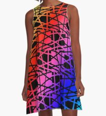 Rainbow -  Gay Pride -Art A-Line Dress