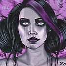 Scars Gothic Portrait by Rebecca Sinz
